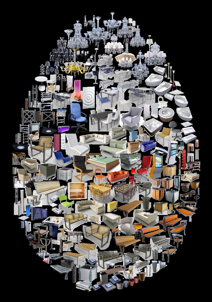 Collection d'objets 3D réalisés par Polantis
