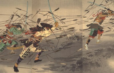 Image de samouraï allant contre toute espoir