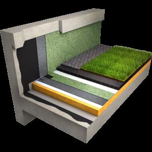 Etancheite toiture terrasse vegetalisee avec retention d eau wateroof sur maconnerie